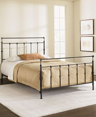 kingston mahogany gold full metal bed