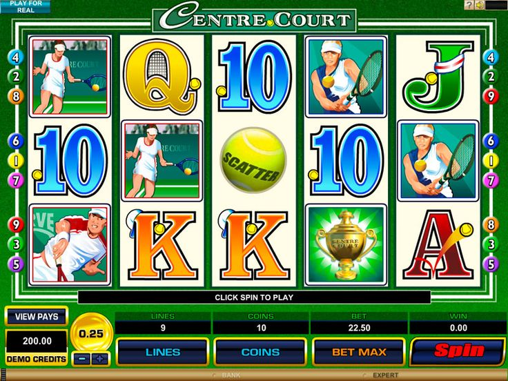 Centre Court video slot
