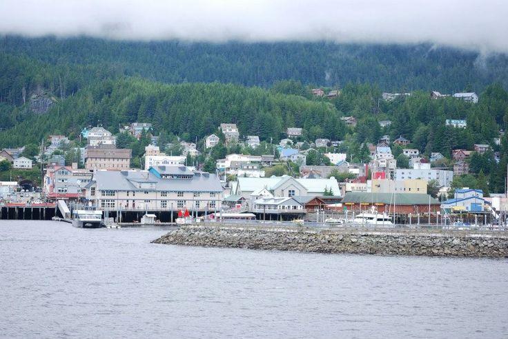 Wonderful views from the cruise ship of Skagway, Alaska