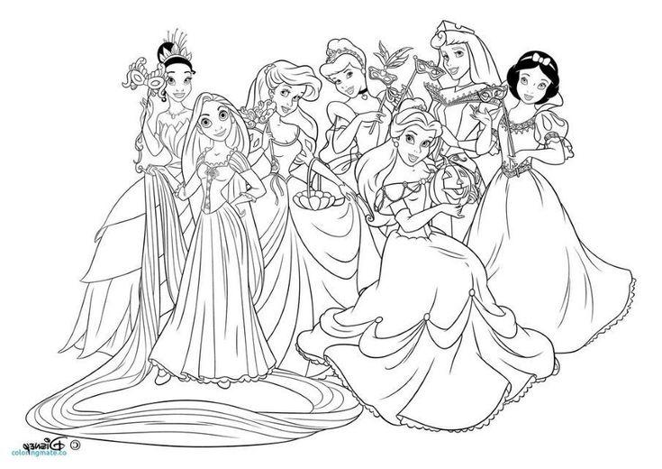 Coloriage à Imprimer Princesse Disney at SuperColoriage | Disney princess coloring pages, My ...