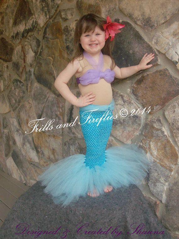 Mermaid Costume Little Mermaid Set w/Flower di FrillsandFireflies