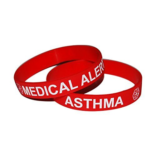 """Medical Alert Asthma Awareness Silicone Emergency Hypoallergenic Wristband Bracelet (5 Pieces) Asthma Awareness Silicone Bracelet WristbandPlatinum Cured SiliconeComfortable, Durable, Flexible, Waterproof and easy to read8"""" Fits most ...  #Alert #Asthma #Autism #AutismAwareness #AutismHour #AutismInMyLife #AutismParents #AutismTMI #Autistic #Awareness #Bracelet #Emergency #Hypoallergenic #Medical #Pieces #Silicone #Wristband"""