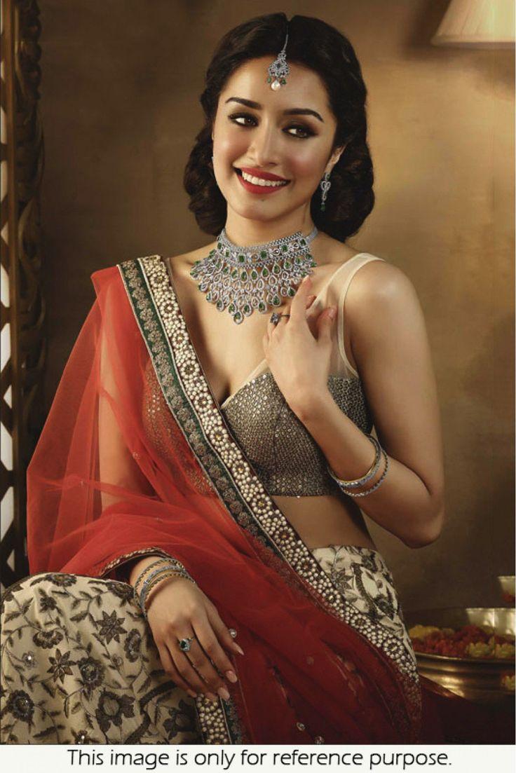Buy Bollywood Style Shraddha Kapoor Georgette Red Colour  Saree  #bollywood #shraddhakapoor