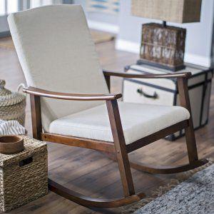 Belham Living Holden Modern Indoor Rocking Chair - Upholstered - Ivory - Indoor Rocking Chairs at Hayneedle