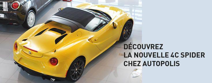 Découvrez la nouvelle 4C Spider chez Autopolis  #autopolis #alfaromeo #dreamcar #new #italia