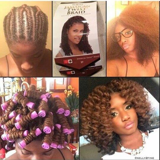 Crochet braids with Jamaican twist hair