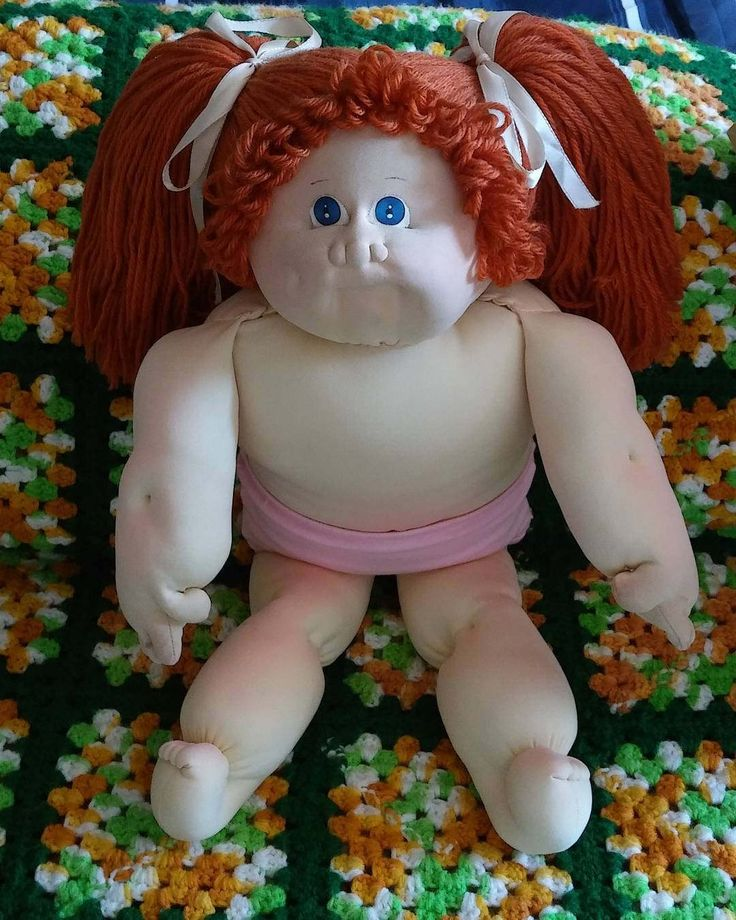 Little People Xavier Roberts Cabbage Patch Kids Soft Sculpture Girl Doll by cherlove2 on Etsy