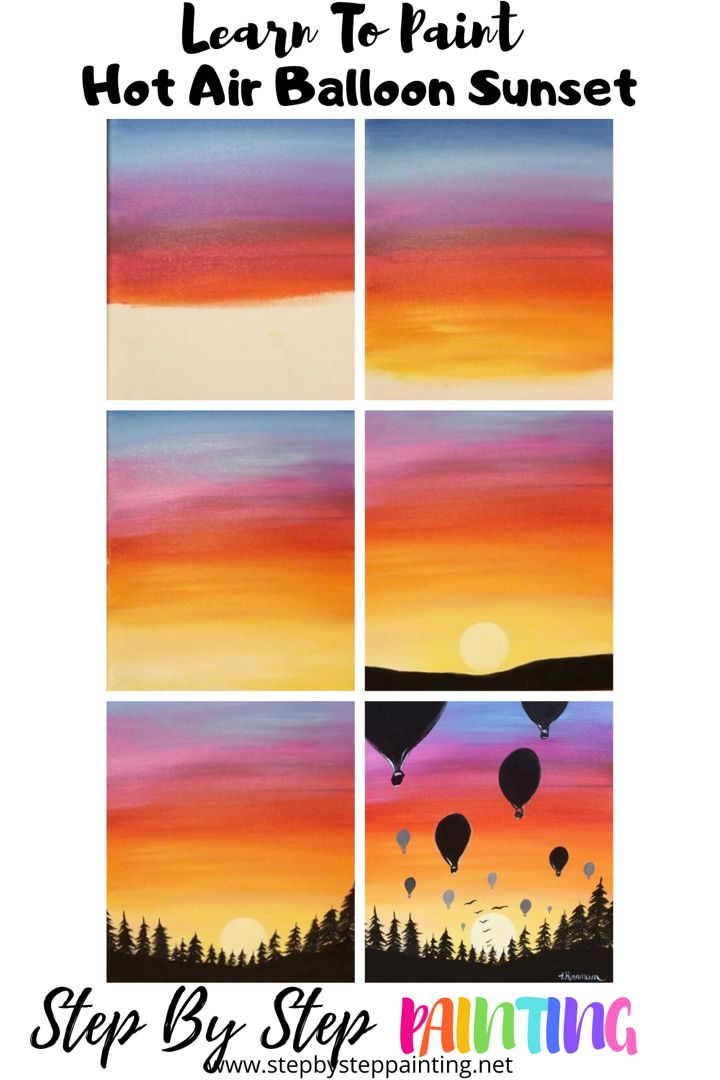 Sunset Painting Learn To Paint An Easy Sunset With Acrylics In