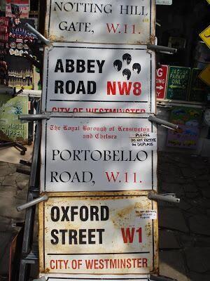 Old street signs for sale at Portobello market via @mirnasandic