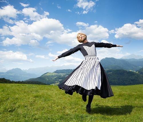 Life Ball (2 June 2018 at Vienna City Hall) announced this year's theme 'The Sound of Music' with the first image showing singer and drag artist Conchita Wurst in the main role 'Maria' once played by Julie Andrews in the famous musical from 1965 about the Austrian Trapp family... fig.: 'The Hills are Alive' - Conchita Wurst in the role of 'Maria' for the Life Ball 2018 theme 'The Sound of Music'. Photo: Life Ball / (C) Markus Morianz.