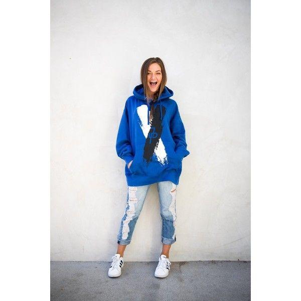 Jake Paul X Hoodie ❤ liked on Polyvore featuring tops, hoodies, white hooded sweatshirt, hooded pullover, white hoodie, hoodie top and summer tops