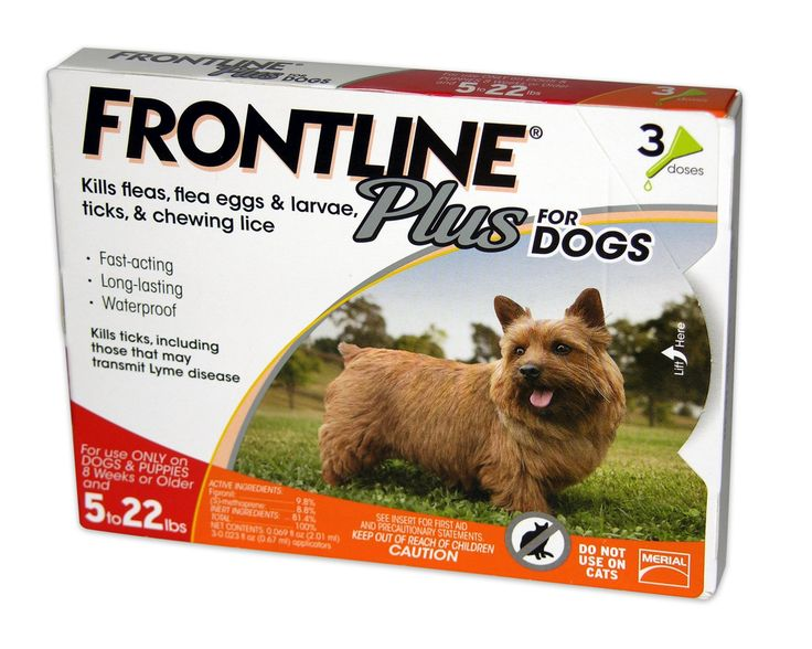 FRONTLINE Plus for Dogs - Orange, For Dogs 5 to 22 lbs. - for dogs 5 to 22 lbs. Contains 3 - 0.023 fl oz (0.67 mL) applicators. FRONTLINE Plus is the longest-lasting, most complete spot-on flea and tick protection available. - https://www.petco.com/shop/en/petcostore/product/frontline-plus-for-dogs---orange-for-dogs-up-to-22-lbs