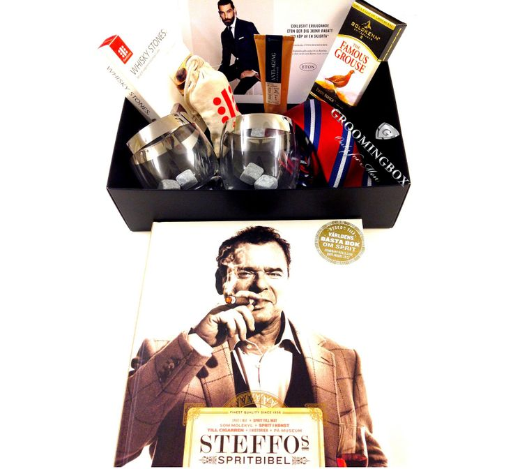"Groomingbox. Most Wanted box by Men. Best selected brands: Steffo Törnquist ""Spritsbibel"", Jim Murray's ""Whisky Bible"", Wine Enthusiast, Teroforma, Goldkenn, Phenome, Eton, Tie Room, Hurraw. #Subscribe to #Groomingbox for €85 bi-monthly. Value of the box: €180. #subscriptionbox #subscription #SteffoTörnquist #whisky #connoisseur #WineEnthusiast #Teroforma #whiskyrocks #tie #TieRoom #Phenome #organic #skincare #Eton #menswear #mensfashion #lifestyle #mensStyle #grooming #DonDraper"