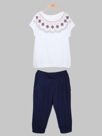 Geometric Pattern Cotton Track Suit