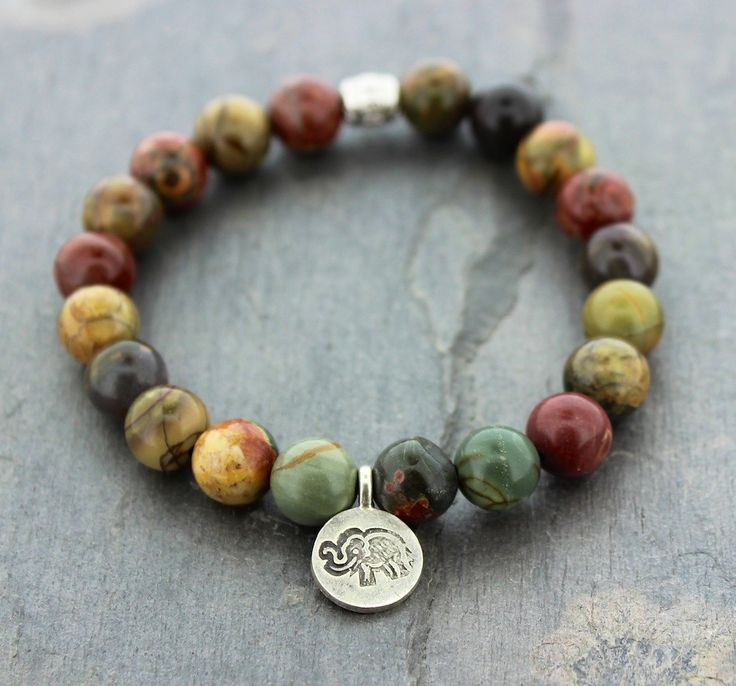 Dharmashop.com - River Stone and Thai Elephant Wrist Mala, $34.00 (http://www.dharmashop.com/river-stone-and-thai-elephant-wrist-mala/)