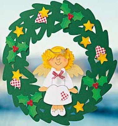 DIY Christmas paper wreath with angel (free printable template) // Karácsonyi papír koszorú angyalkával (ingyenes sablon) // Mindy - craft tutorial collection // #crafts #DIY #craftTutorial #tutorial