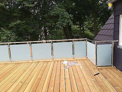 Balkongeländer  Edelstahl VSG Glas Balkon Geländer