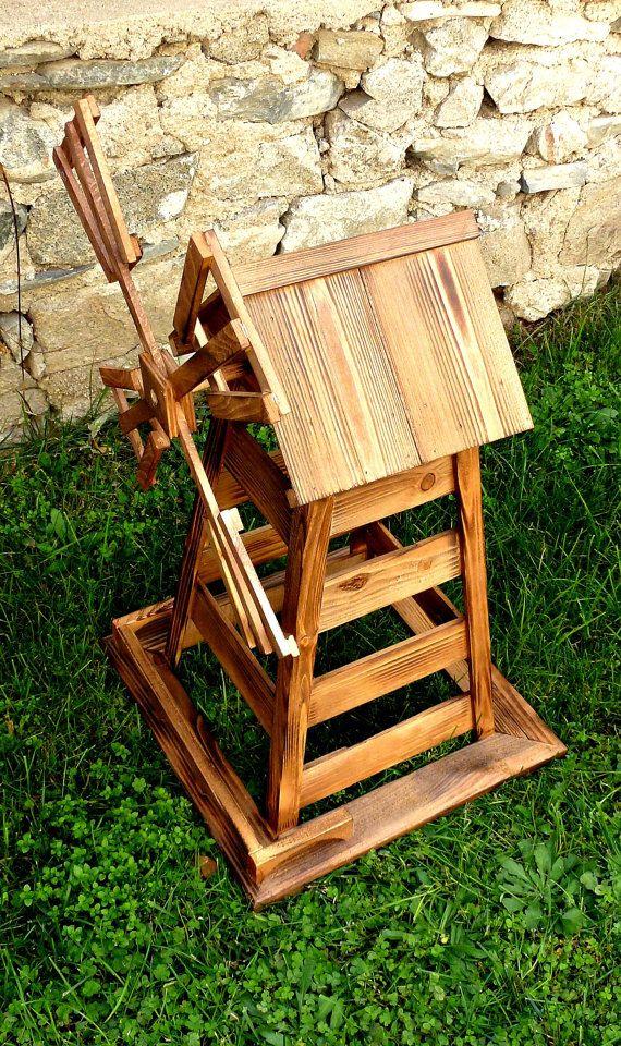 Windmill wooden windmill garden decoration