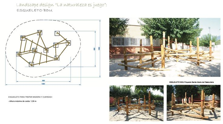 Esqueleto BDU #ideas #bdu #playground #parquesinfantiles #barcelona #bcn #children