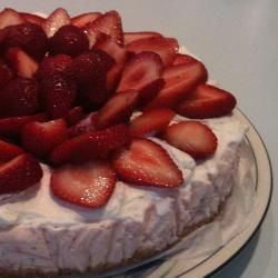 Kwarktaart met aardbeien