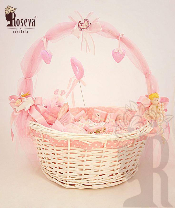 Roseva Chocolate Bebek Sepetleri, çikolata , chocolate , pembe , pink, sepet, baby, franchise, franchising, süsleme
