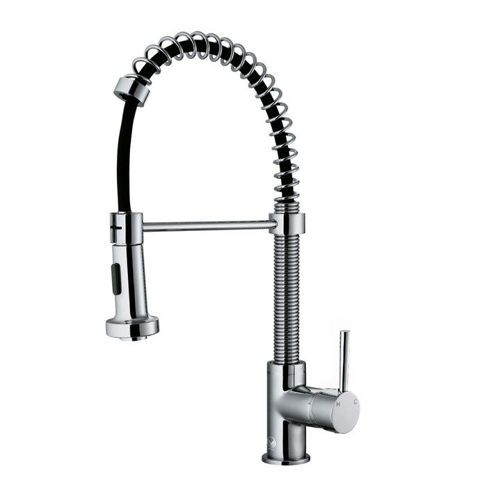 Features: Product Type: -Standard kitchen faucet. Material: -Brass. Hardware Material: -Brass. Number of Installation Holes: -1. -Includes a sprayface that resists mineral buildup and is easy-to-