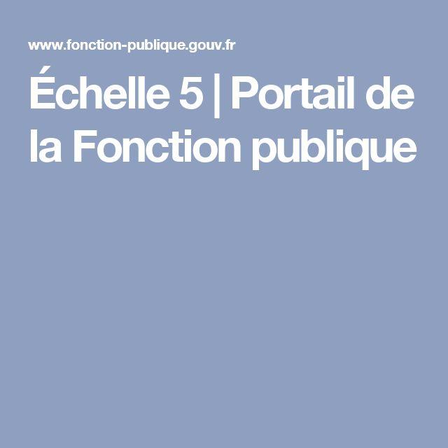Échelle 5 | Portail de la Fonction publique