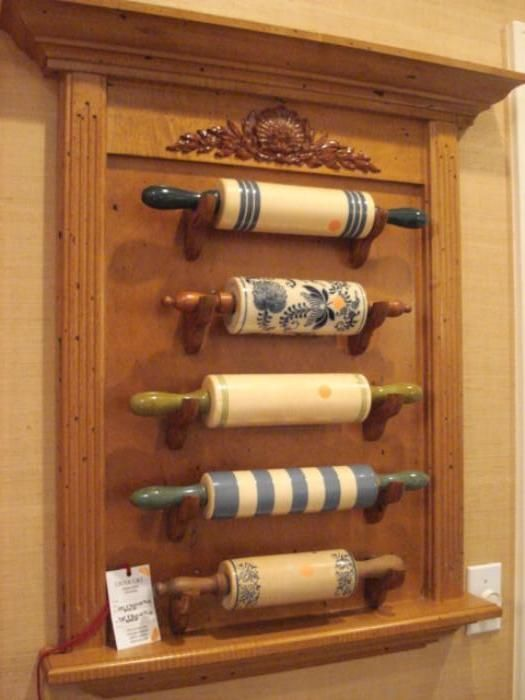 Found on EstateSales.NET: Rolling pin collection with display frame  Estate Sales ...