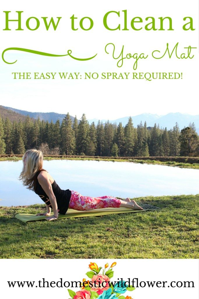 How to Clean a Yoga Mat the Easy Way