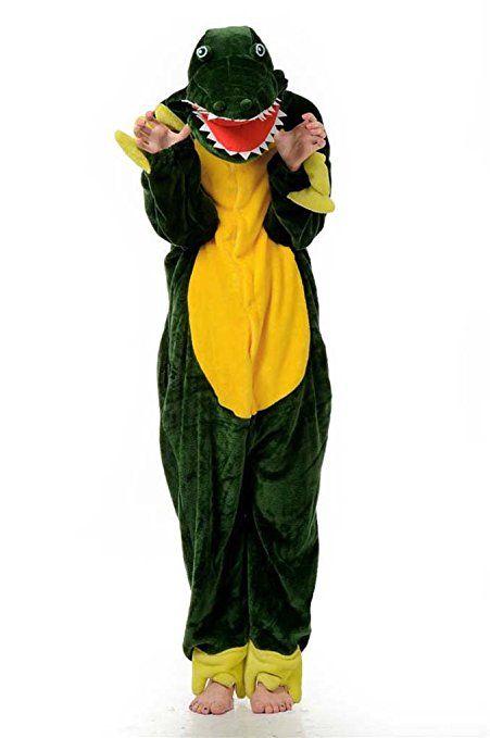 Damen Herren Unisex Adult Erwachsene Krokodil Animal Anime Tier Weihnachten Halloween Fasching Carnival Kigurumi Cosplay Overall Pajamas Pyjamas Schlafanzug Kostüme Jumpsuit kleid Kleidung