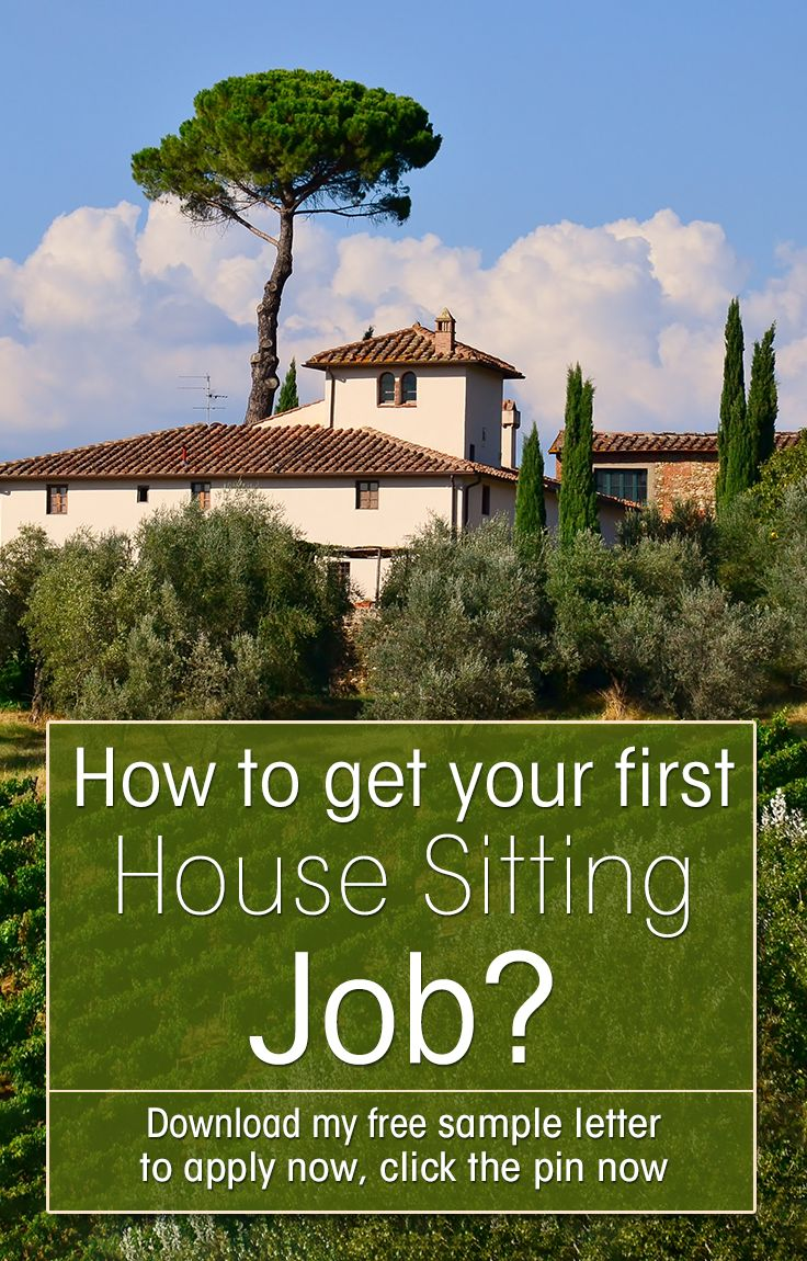 Do you travel and want to try house sitting? But how to get your first house sitting job? Download my sample letter to get the best house sitting jobs!