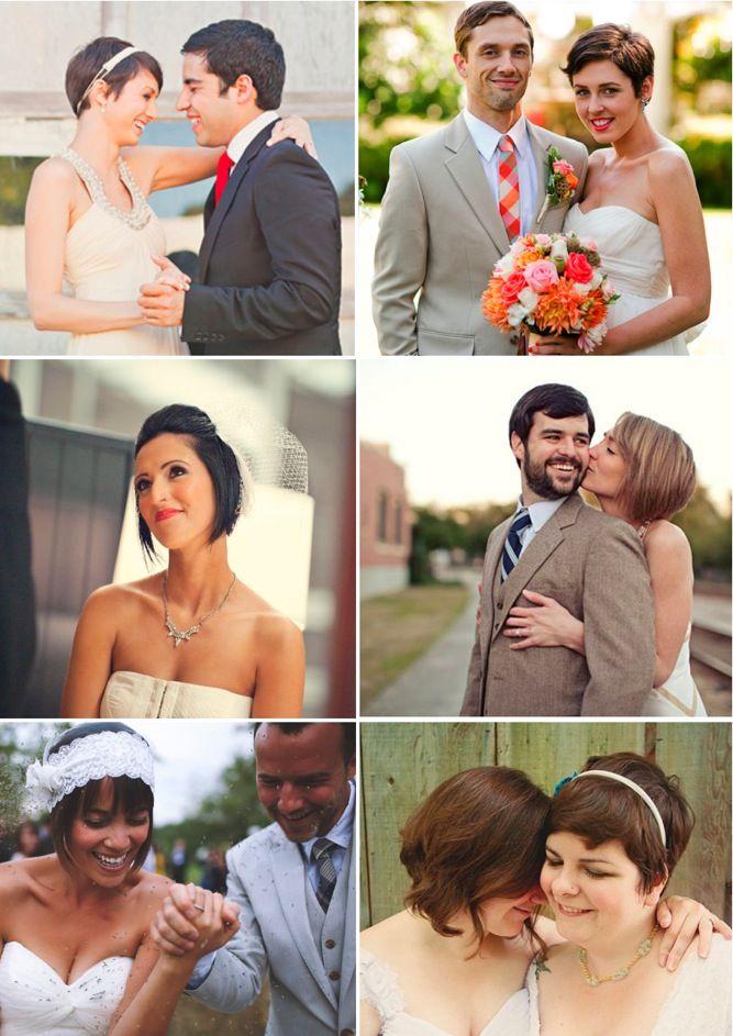 Brides With Short Hair, bridal beauty   Bridal Musings (3)