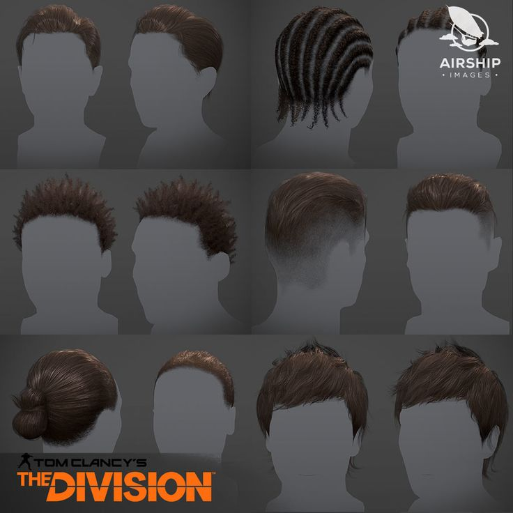 The Division - Player hairstyles, Airship Images on ArtStation at https://www.artstation.com/artwork/XDDyn