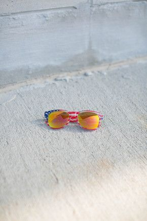 American Flag Sunglasses Yellow