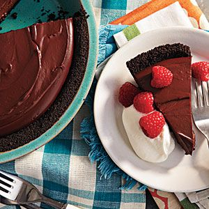 Rich Chocolate Pudding Pie | CookingLight.com: Desserts Recipes, Desserts Ideas, 100 Healthy, Rich Chocolates, Pies Recipes, Chocolate Pudding Pies, Chocolates Puddings Pies, Cooking Light, Healthy Desserts