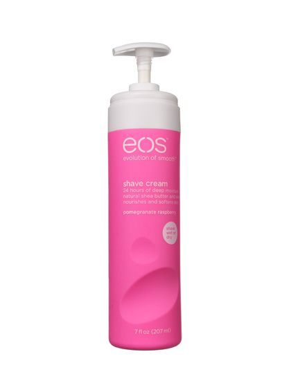 Body 2013: SHAVING RAZOR EOS Shave Cream (shown here in Pomegranate Raspberry) is so thick with skin-repairing shea butter that you might expect it to gunk up your razor. It won't.