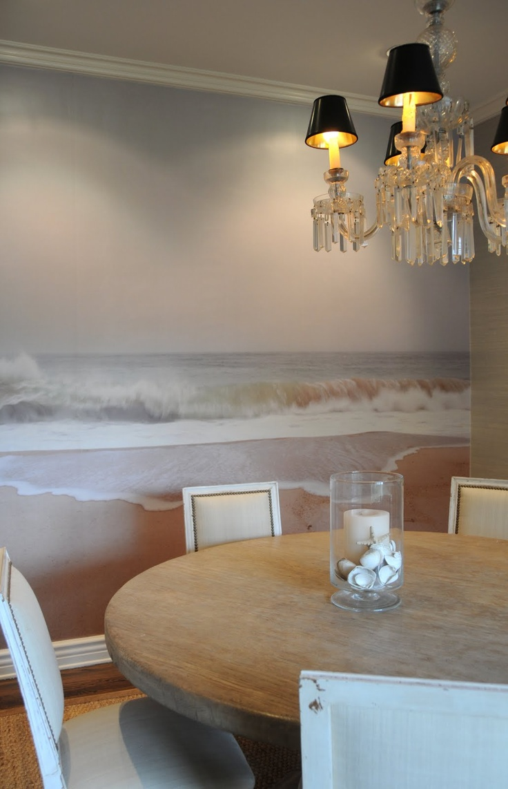 Beautiful serene mural ~ I would do it in a bedroom.
