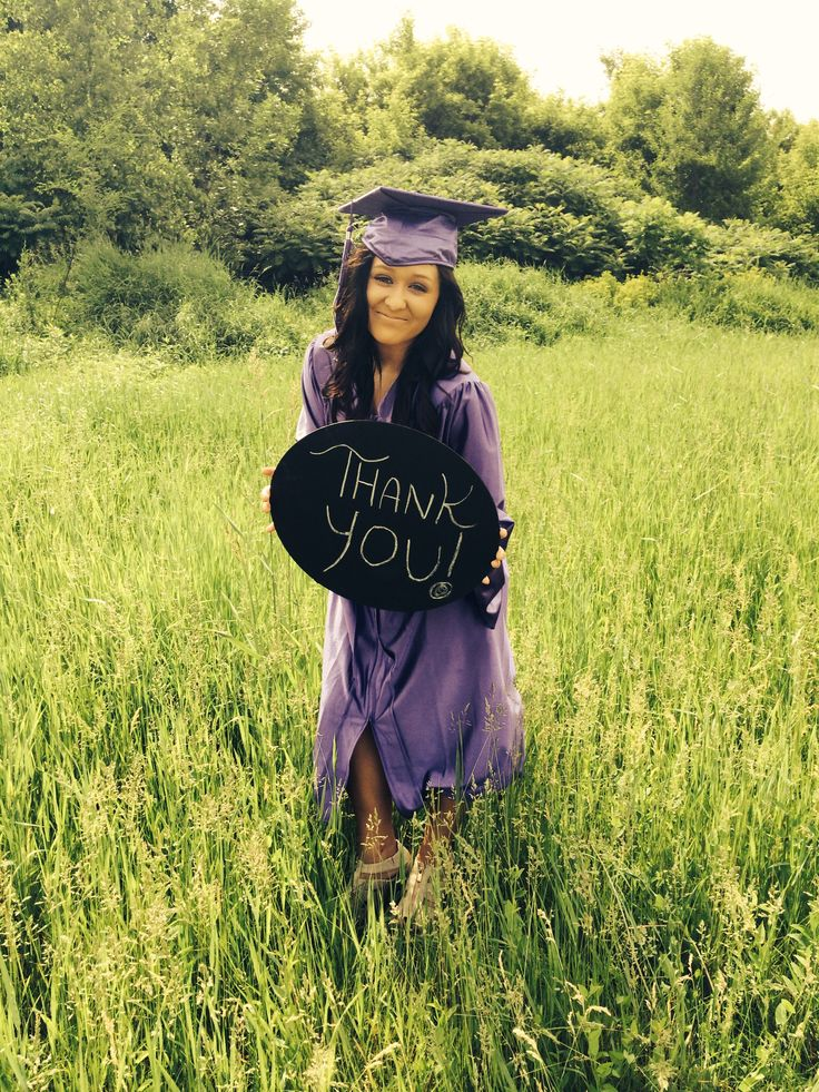 Great idea for thank cards during high school graduation