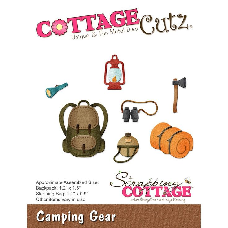 """CC-252  CottageCutz Die """"Camping Gear"""""""