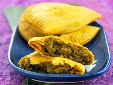 jamaican beef patties recipe, patty, jamaica, hand pie, receipts - © 2014 Gusto Images/Getty, licensed to About.com, Inc.