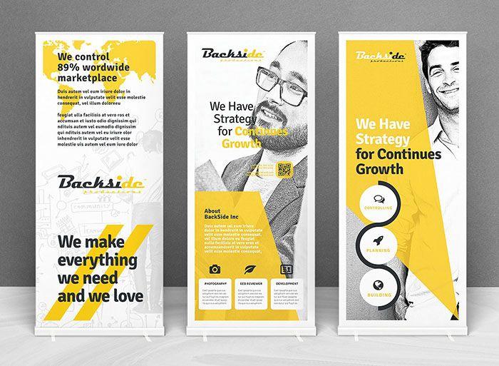 49 Best Roll Up Banner Mockups And Templates 2020 Banner Design Inspiration Social Media Template Banner Design