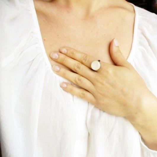Fairy - ecru pierścionek