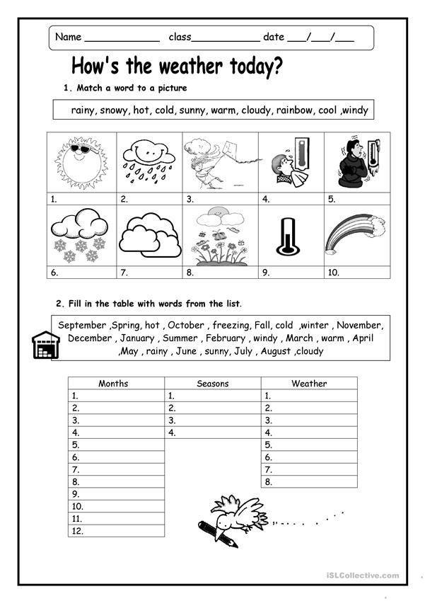 Weather Tools Worksheet For 2nd Grade   SHOTWERK