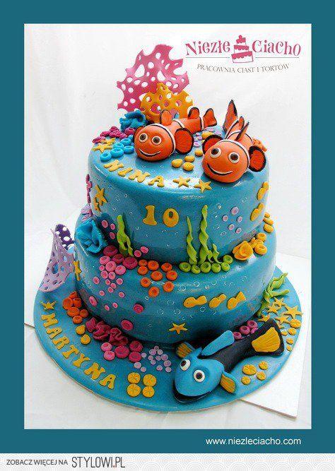 Rybka Nemo, tort z Rybką Nemo, podwodny świat, ocean, zwierzęta morskie, koralowce, ryby, morze, torty dla dzieci, tort urodzinowy