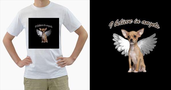 Angel+Chihuahua+Men's+T-Shirt+(White)+