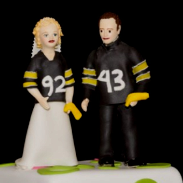Steelers Wedding Cake Topper