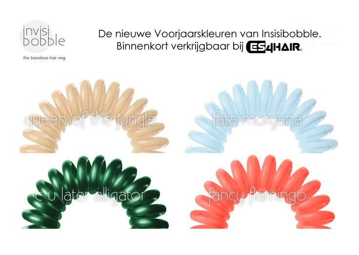 Binnenkort de nieuwe voorjaarskleuren van het slimste haar elastiekje van Invisibobble bij ons verkrijgbaar.  Ook een leuk idee voor moederdag! #moederdag #Nijverdal #kapper #new #nieuwe