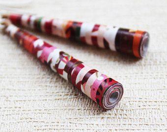 Regalo de la Navidad de flor de cerezo pendientes - joyas para Navidad - por ella - Navidad pendientes - joyería moldeada - papel cuentas pendientes - Navidad