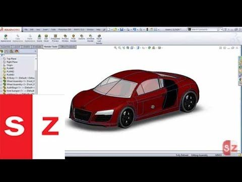 Solidworks Audi R8 Car Complete Tutorial - YouTube