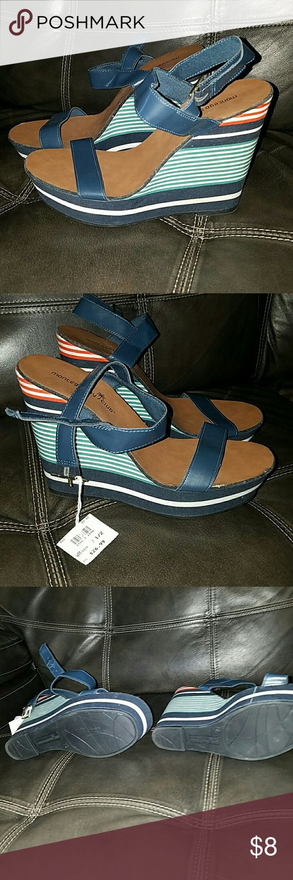 Weekend Sale Montego Bay Club wedge sandles Size 7.5 montego bay club Shoes